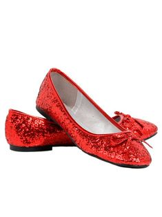XLARGE  @ 8-9 RUBY RED SLIPPERS SEQUINS  FLAT SHOES SIZE LARGE 10 NWT
