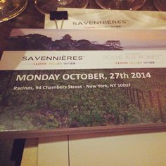 Tasting and Pairing dinner for Loire Valley Savennières wines