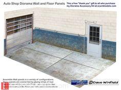 1/18 Automotive Diorama Walls FREE