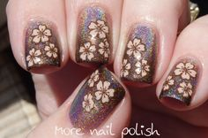 Burnt Ambition with advanced stamping ~ More Nail Polish
