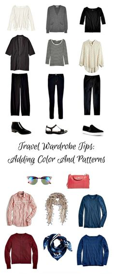 une femme d'un certain âge |travel wardrobe tips: adding color and pattern