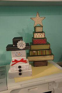 2x4 Snowman & Christmas Tree.