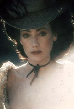 "Marisa Berenson in Barry Lyndon --  ""The girl of the Seventies"" ~YSL    Love the simple ribbon around the neck."