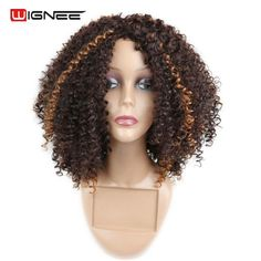 Synthetic None-lacewigs Soowee Black To Brown Ombre Color Bady Wavy Medium Wigs Synthetic Hair Heat Resistant Fiber Hairpiece Women Cosplay Wig Demand Exceeding Supply