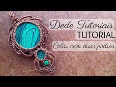 Dede Tutoriais | Como fazer colar com duas pedras #47 - YouTube