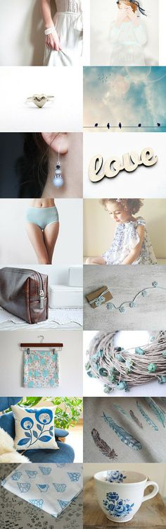 Tuesday Blue by Camilla Agathe Lande Jensen on Etsy--Pinned with TreasuryPin.com
