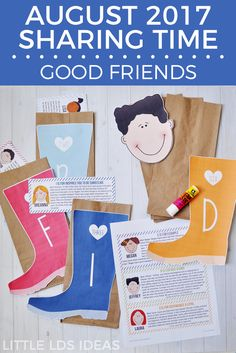 August 2017 Week 1 Sharing Time Idea from Little LDS Ideas. Good Friends Sharing Time Idea. This is such a cute activity that will teach the children about good friends and being good friends. via @https://www.pinterest.com/littleldsideas/