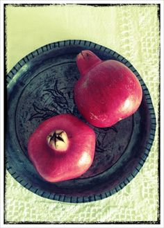 Pomegranates- they go well in salad and cocktails. Or if you're a purist just drink it as a Pomegranate juice