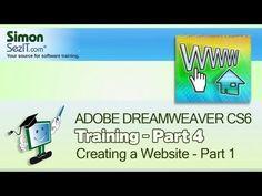 Dreamweaver Tutorial: Basic HTML - Part 3 - Create a Website Course Adobe Dreamweaver, Free Books, Web Design, Graphic Design, Software, Coding, Train, Website, Create