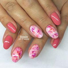 #gel #nails #nailart #naildesign #nailcandy #nailswag #nailaddict #summernails #sharpie #sharpienails