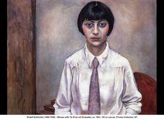 Frau mit kravatte (1923) Rudolf Schlichter.