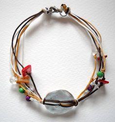 handmade colorful wax string bracelet | pavlos - Jewelry on ArtFire