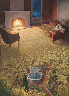 """""""The Weaving of a Spring Dream"""" Rob Gonsalves"""