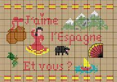 Pays - country - espagne - point de croix - cross stitch - Blog : http://broderiemimie44.canalblog.com/