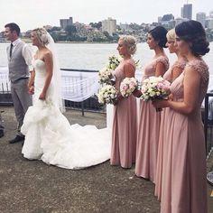 long bridesmaid dress,chiffon bridesmaid dress,cheap bridesmaid dress,custom bridesmaid dress,BD17191 - Thumbnail 1