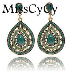 MissCyCy Bohemia Style Full Drill Sater Shaped Earring Ornaments Eco-Friend Gigh Quality Stud Earrings Fow Women