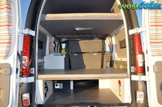 Back storage space .. can fit a surfboard in the lower storage also!