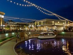 The Woodlands Mall - River with boat rides, carousel and shops like Anthropologie, Pottery Barn, Williams Sonoma, Urban Outfitters, and The Cheesecake Factory.