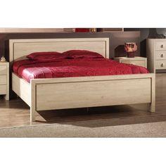 Ce lit pour adulte et les tables de chevets sont faits à base de bois MDF de haute qualité. La couleur appelée le chêne odessa est très douce et très agréabl...