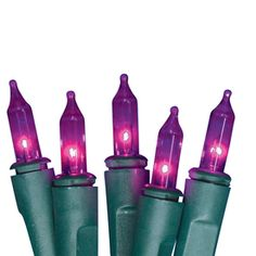 Shop Holiday Living 100-Count Incandescent Mini Purple Christmas String Lights at Lowes.com