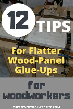If you're building wooden panels for table tops doors shelves etc. you need to learn how to make a good solid flat panel glue up. Here are my 12 best tips for building flatter wood panels for your projects. Unique Woodworking, Woodworking Joints, Learn Woodworking, Woodworking Techniques, Easy Woodworking Projects, Woodworking Plans, Wood Projects That Sell, Diy Wood Projects, Tool Website