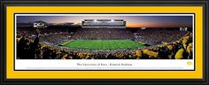 University of Iowa - Football Hawkeyes At Kinnick Stadium Panoramic Picture $199.95