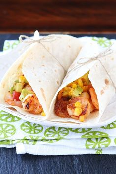 Firecracker Shrimp Tacos with Avocado Corn Salsa