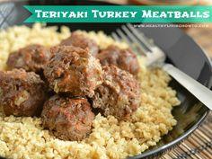 Turkey Teriyaki Meatballs No wheat. No gluten. No sugar. No soy.