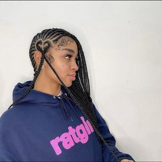 Braids Hairstyles Pictures, Feed In Braids Hairstyles, Baddie Hairstyles, Hair Pictures, Protective Hairstyles, Black Girl Braids, Braids For Black Hair, Girls Braids, Curly Hair Styles