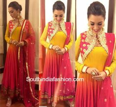Amy Jackson in Diva'ni Anarkali Suit