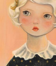 Love this author/artist! Let's Be Cool: emily winfield martin Art And Illustration, Illustrations Posters, Small Paintings, Paintings I Love, Kawaii, Collage, Whimsical Art, Doll Face, Face Art