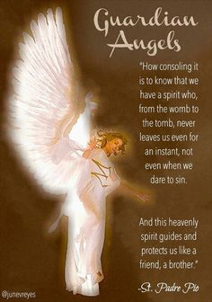 Our Guardian Angels remind us that we are never alone and can rely on God's daily protection and guidance. There is no better security. Guardian Angel Quotes, Your Guardian Angel, Catholic Quotes, Catholic Prayers, Catholic Archangels, Catholic Readings, Everyday Prayers, I Believe In Angels, Miracle Prayer
