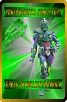 Green Chameleon Warrior by rangeranime on Power Rangers Jungle Fury, Power Rangers Ninja Storm, Go Go Power Rangers, Mighty Morphin Power Rangers, Vr Troopers, Power Rengers, Green Ranger, Action Figure Display, Chameleon
