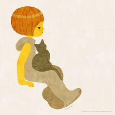 Just daydream with my lovely cat.– 丹地陽子Yoko Tanji
