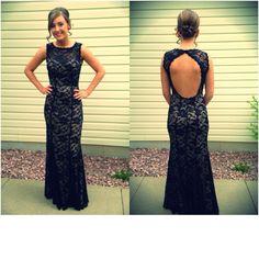 Lace dress, prom, open back