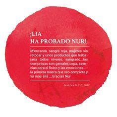 ¡Lia ya ha probado NUR! 🔴 #proyectonur #menstruación #sostenible