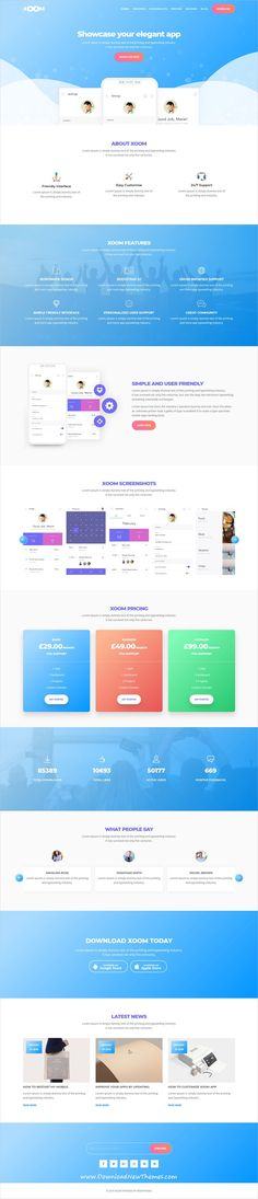 Xoom is clean and modern design #responsive HTML5 bootstrap #theme for #creative apps #landingpage website with 25 different homepage layouts to download & live preview click on image or Visit #webdev