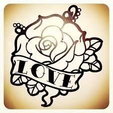 rose tattoo old school - Google pretraživanje