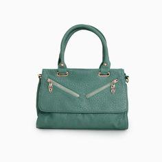 Diagonal Zipper Bag
