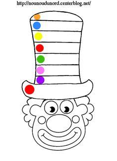 Clown à gommettes Imprimer les fichiers: .acrobat.com Gommettes rondes :.ici. **************** *Mardi gras, carnaval * Découvrez nos Activités cliquez: .ici. tous mes masques : .ici. Coloriages ... Clown Crafts, Carnival Crafts, Carnival Themes, Circus Theme, Halloween Crafts, Foam Crafts, Diy And Crafts, Crafts For Kids, Arts And Crafts