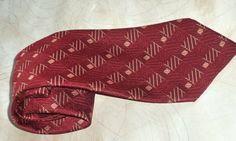 70s Louis Feraud Necktie Paris Couture Raspberry by MushkaVintage3