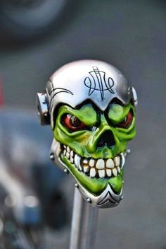 Sick skull shift knob.  Harley-Davidson of Long Branch www.hdlongbranch.com