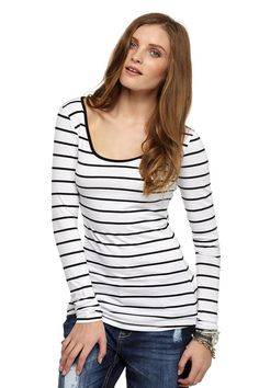 stripe stretch top | Cotton On