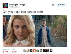"This girl power tweet. | 31 Jokes Only ""Stranger Things"" Fans Will Find Funny"