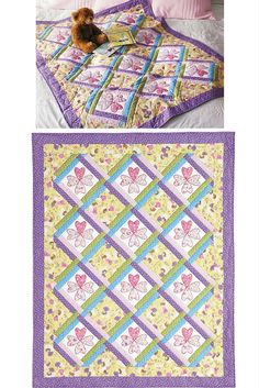 The Sweetheart Fairies digital pattern from Easy Quilts Summer 2011 issue features pretty pastel prints. What little girl doesn't love a quilt made just for her, sprinkled with hearts and fairy dust?