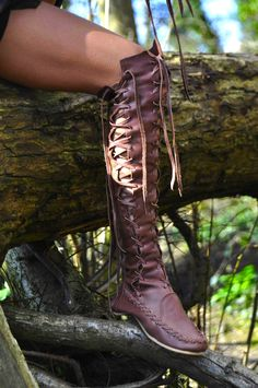 Leather Boots – Brown Knee High Leather Boots For Women | Gipsy Dharma | GiPSY Dharma unique handmade clothing and leather boots for women