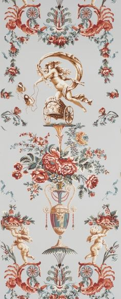 Adelphi Custom and Historic Wallpapers   Locust Grove Arabesque   Alternate Colorway C