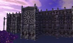 The Cathedral of Asceria Minecraft World Save Like the circle window Minecraft Castle, Minecraft Plans, Minecraft Creations, How To Play Minecraft, Minecraft Projects, Minecraft Stuff, Minecraft Structures, Minecraft Buildings, City Of Heroes