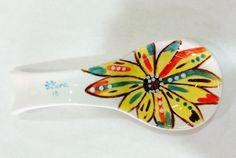 Porta cucharas pintado a mano Spoon Rest Hand painted Sunflower