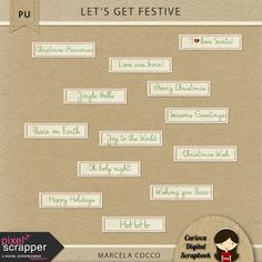 FREE Let's get festive! by Carioca Digital Scrapbook - Pixel Scrapper Blog Train  December 2015